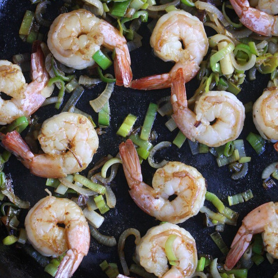 Shrimp And Grits Healthy  Healthy Shrimp and Grits with Leeks Recipe Phoebe Lapine