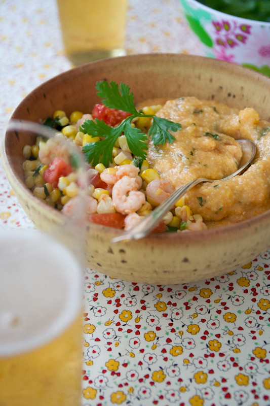 Shrimp And Grits Healthy  shrimp and corn with cheese grits Healthy Seasonal Recipes