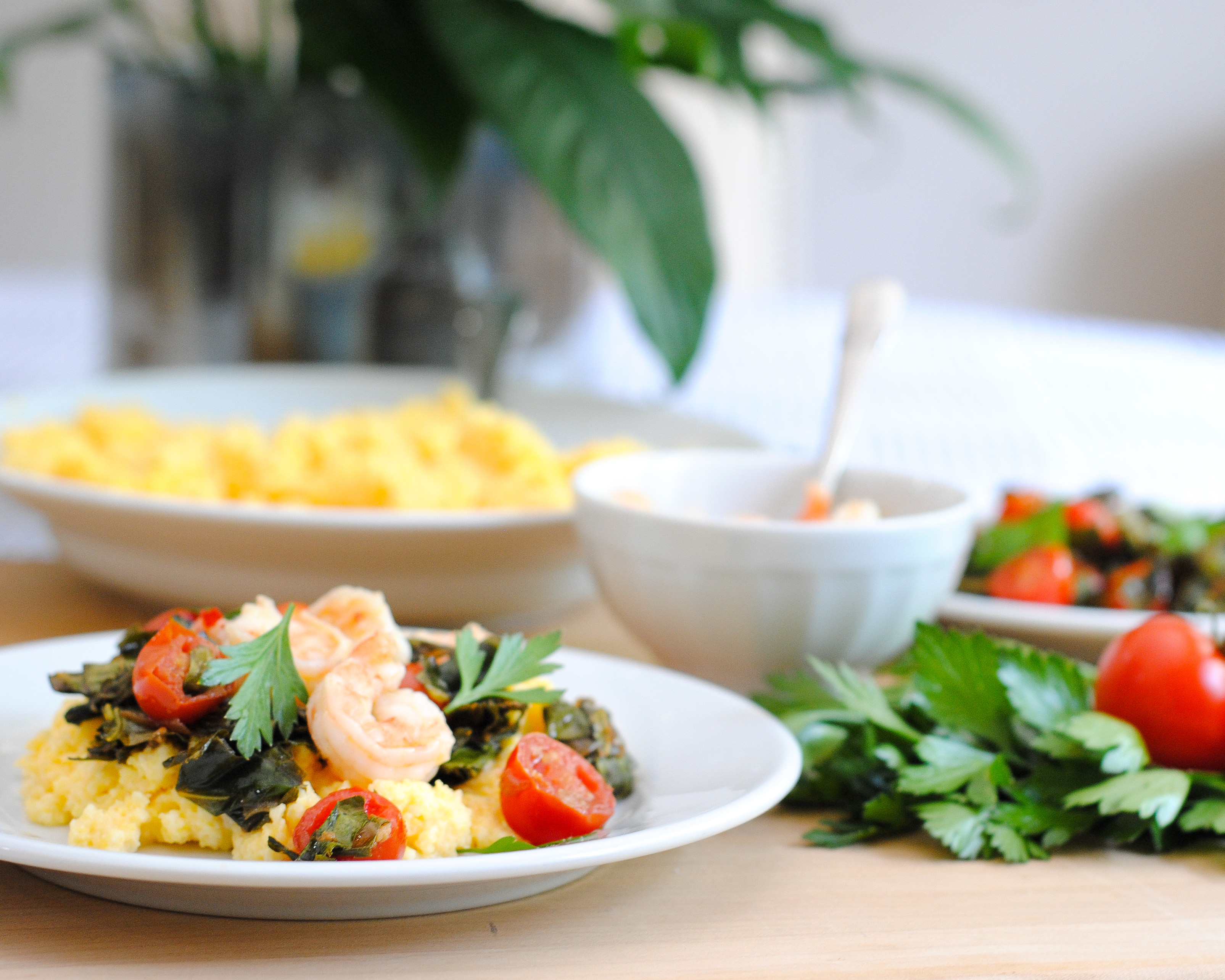 Shrimp And Grits Healthy  Healthy Shrimp and Grits with Collard Greens The