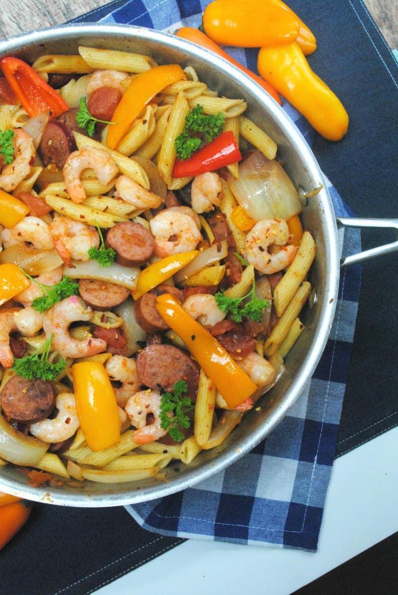 Shrimp Pasta Healthy  Cajun shrimp pasta just2sisters
