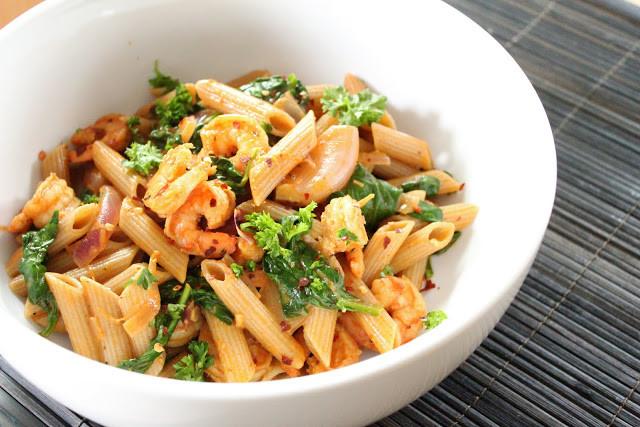 Shrimp Pasta Healthy  Cajun shrimp pasta
