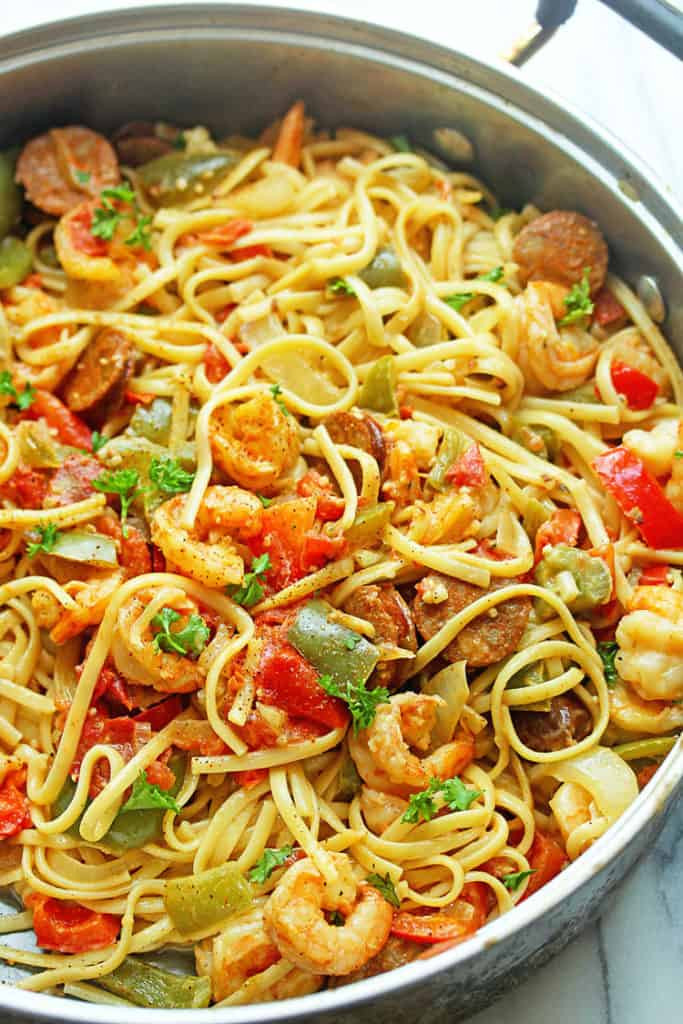 Shrimp Pasta Healthy  Cajun Shrimp Pasta Recipe Grandbaby Cakes