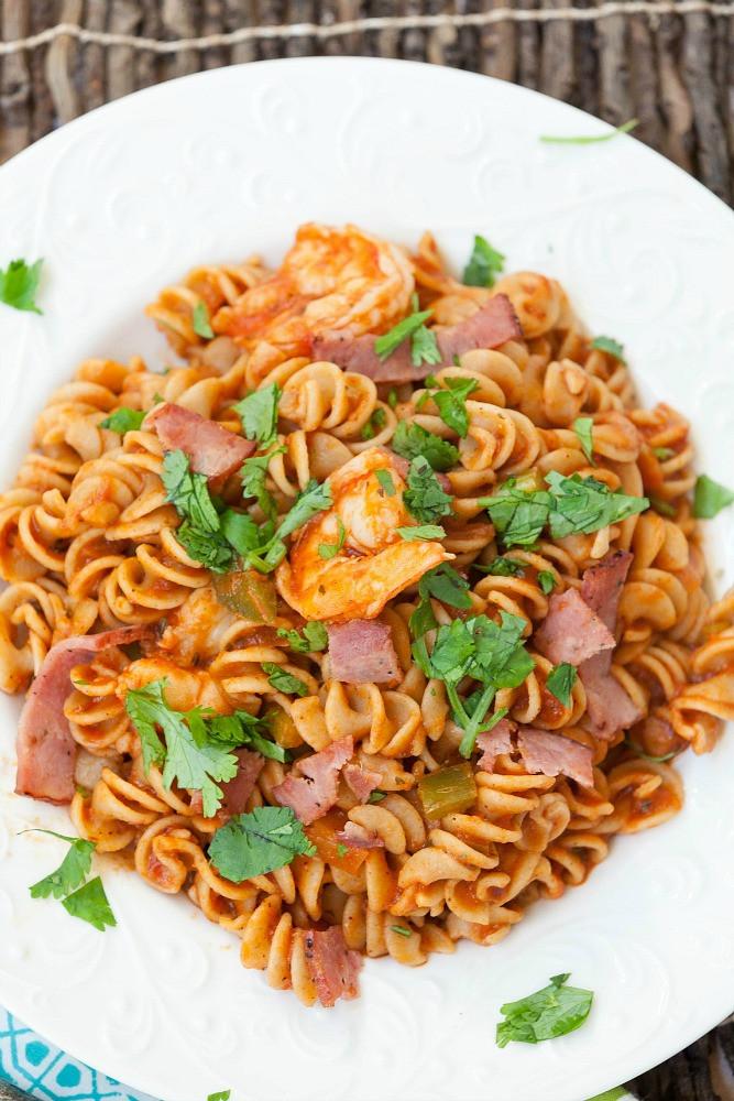 Shrimp Pasta Healthy  Low Country Shrimp Pasta Healthy Food Done Light