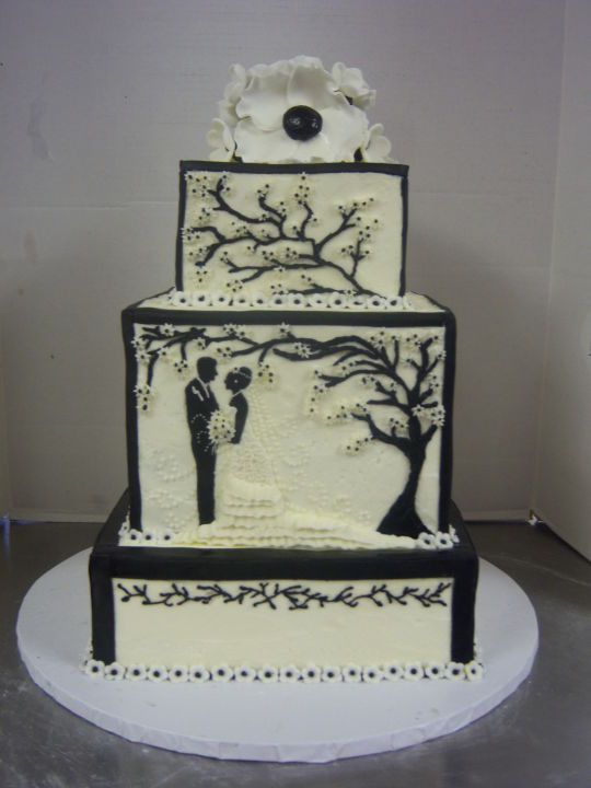 Silhouette Wedding Cakes  silhouette wedding cake Cake by sweettooth CakesDecor