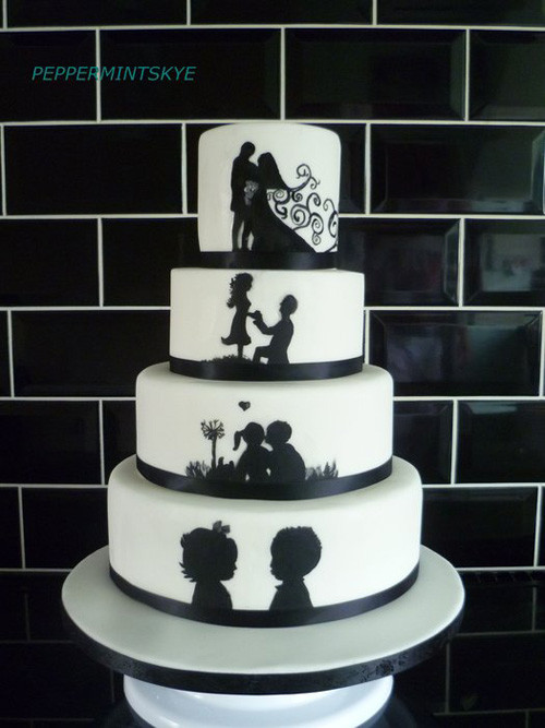 Silhouette Wedding Cakes  10 Wedding Cakes for Inspiration