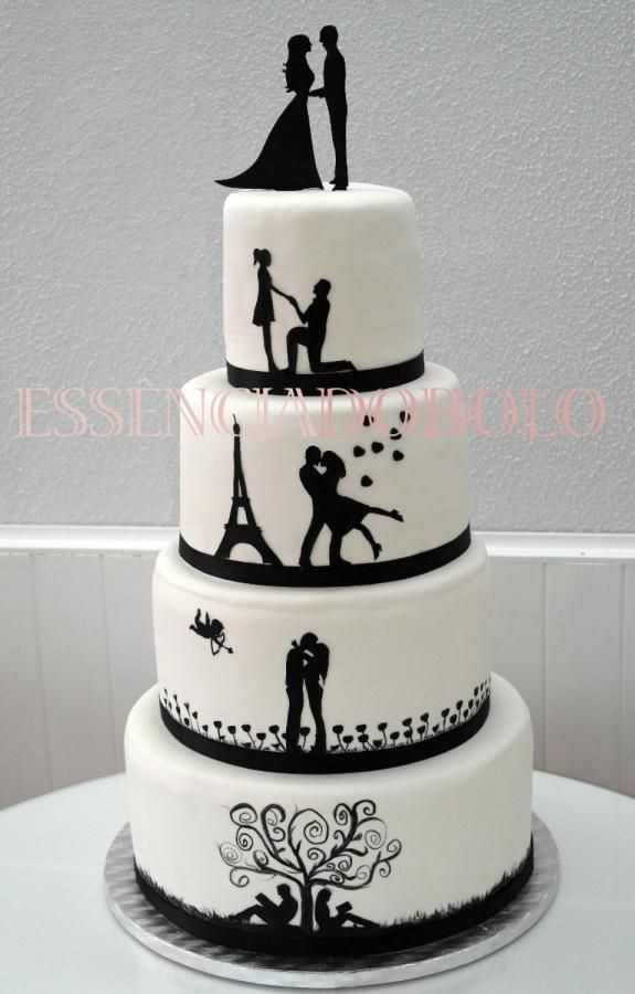 Silhouette Wedding Cakes  20 best ideas about Silhouette Wedding Cake on Pinterest