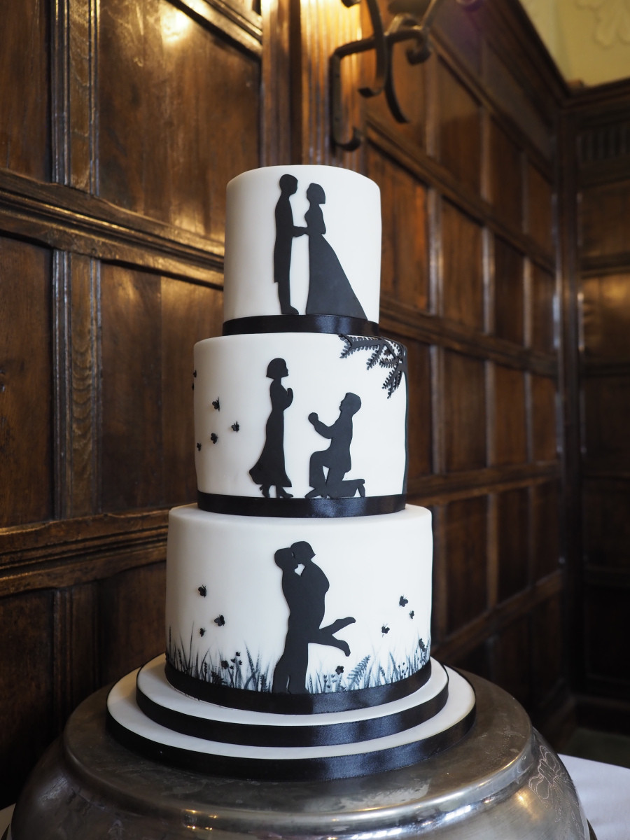 Silhouette Wedding Cakes  Silhouette Wedding Cake