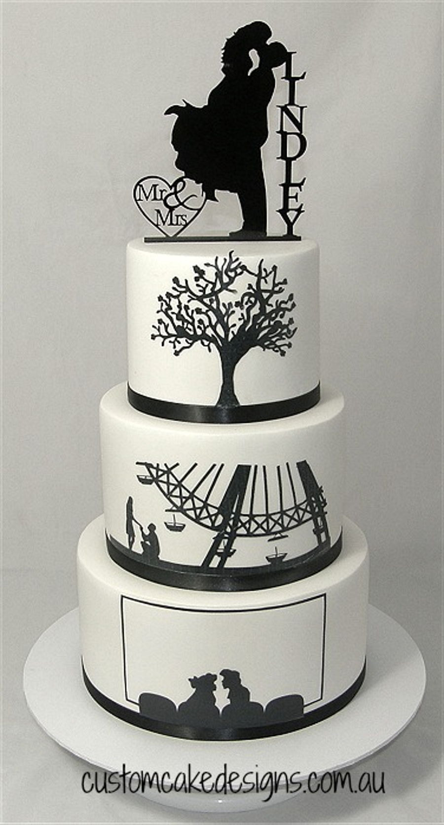 Silhouette Wedding Cakes  Silhouette Wedding Cake CakeCentral