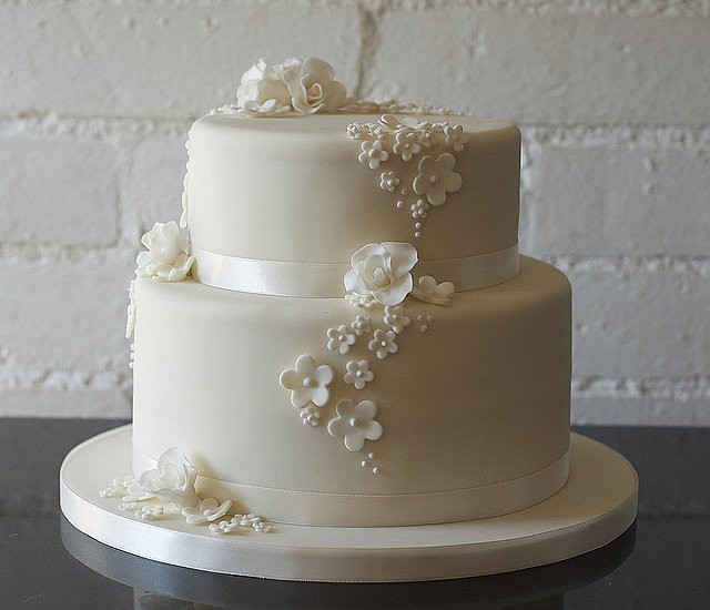 Simple 2 Tiered Wedding Cakes  Wedding Cakes – SERYNNA