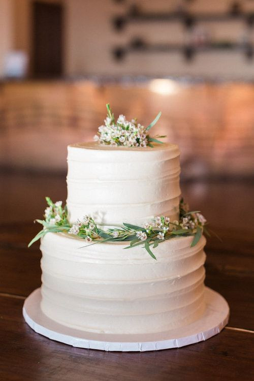 Simple 2 Tiered Wedding Cakes  2 tier wedding messy buttercream cake from Sweet Treets at