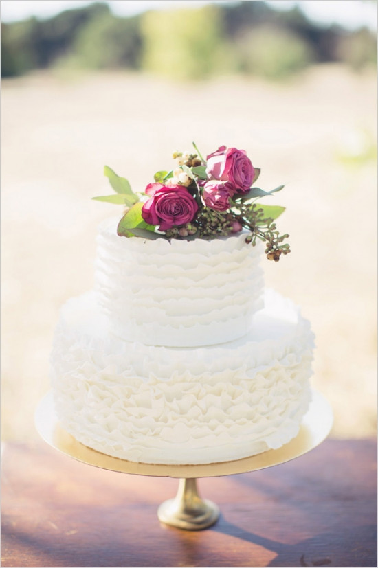Simple 2 Tiered Wedding Cakes  Simple 2 tier wedding cake designs idea in 2017