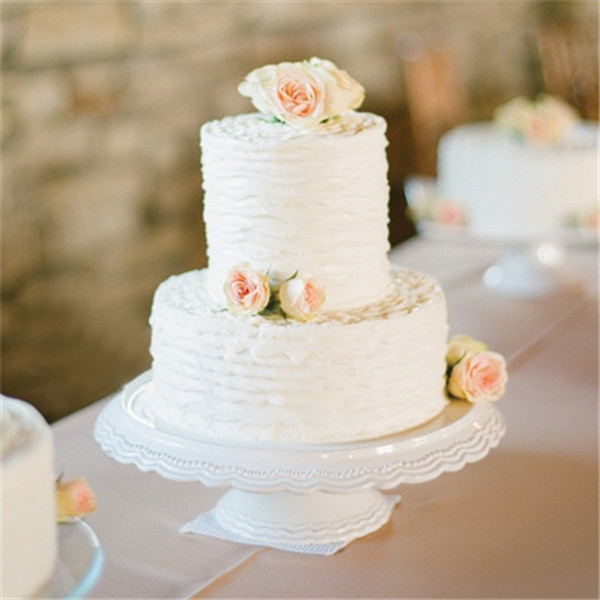 Simple 2 Tiered Wedding Cakes  40 Elegant and Simple White Wedding Cakes Ideas Page 3