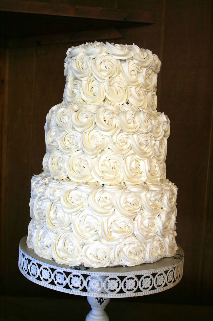 Simple 3 Tiered Wedding Cakes  Simple White Wedding Cake – Happy Cake Baker