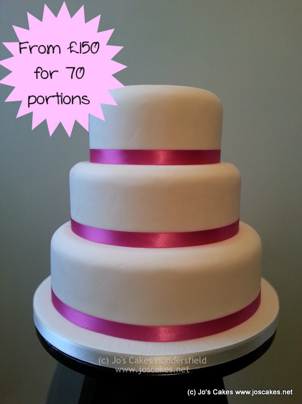 Simple 3 Tiered Wedding Cakes  Jo s Cakes Simple 3 Tier Wedding Cake