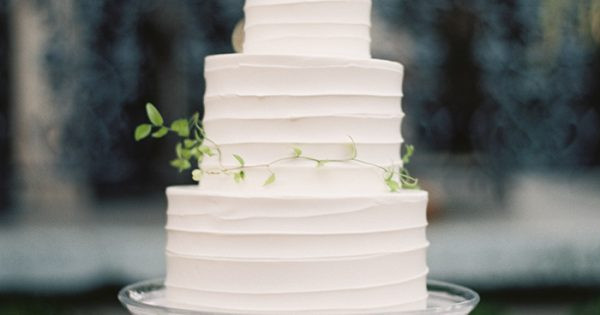 Simple 3 Tiered Wedding Cakes  8 simple white 3 tier wedding cake ce Wed