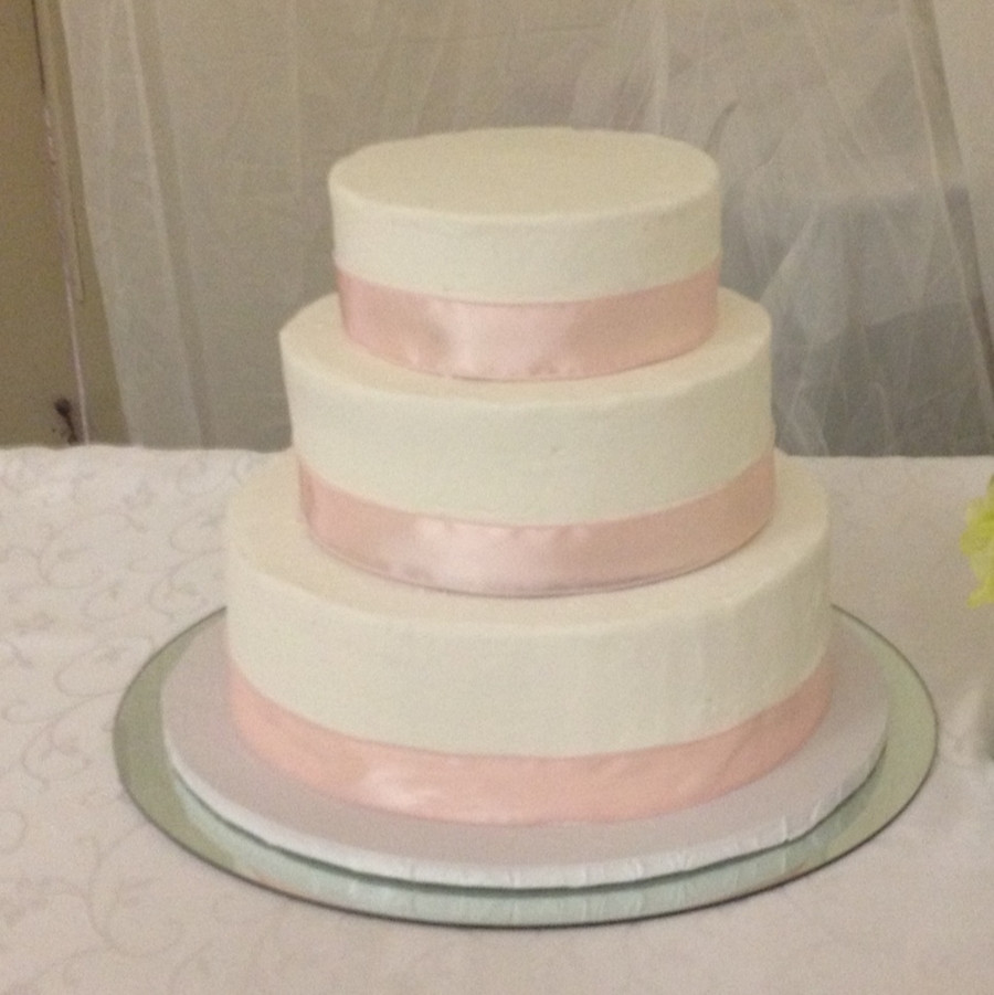 Simple 3 Tiered Wedding Cakes  Simple Round Wedding Cake CakeCentral