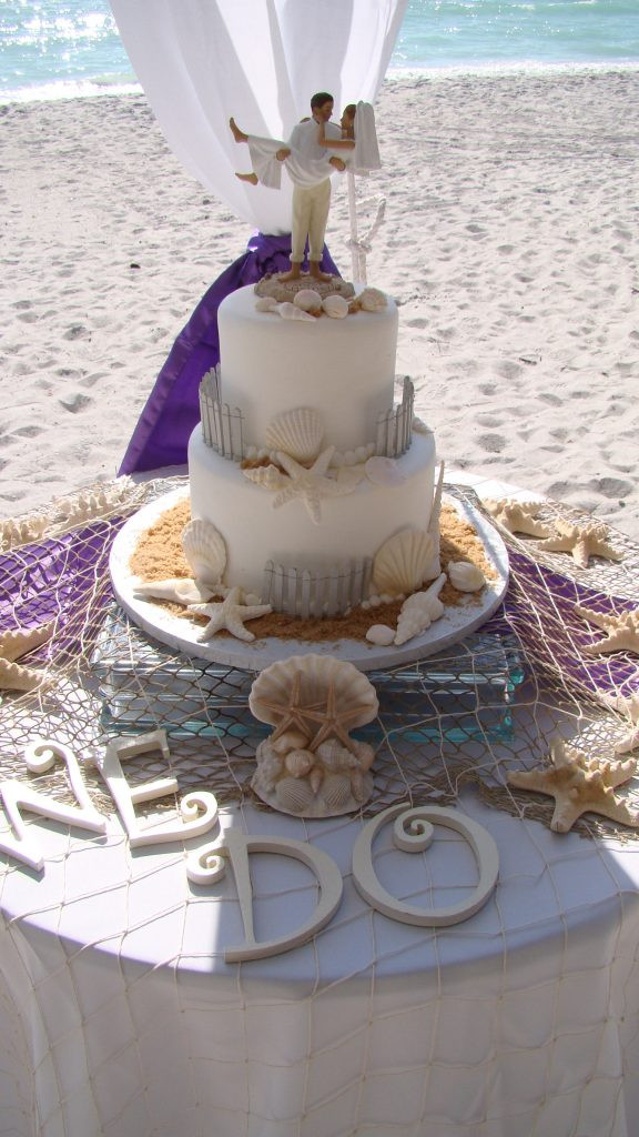 Simple Beach Wedding Cakes  Simple Beach Wedding Cakes