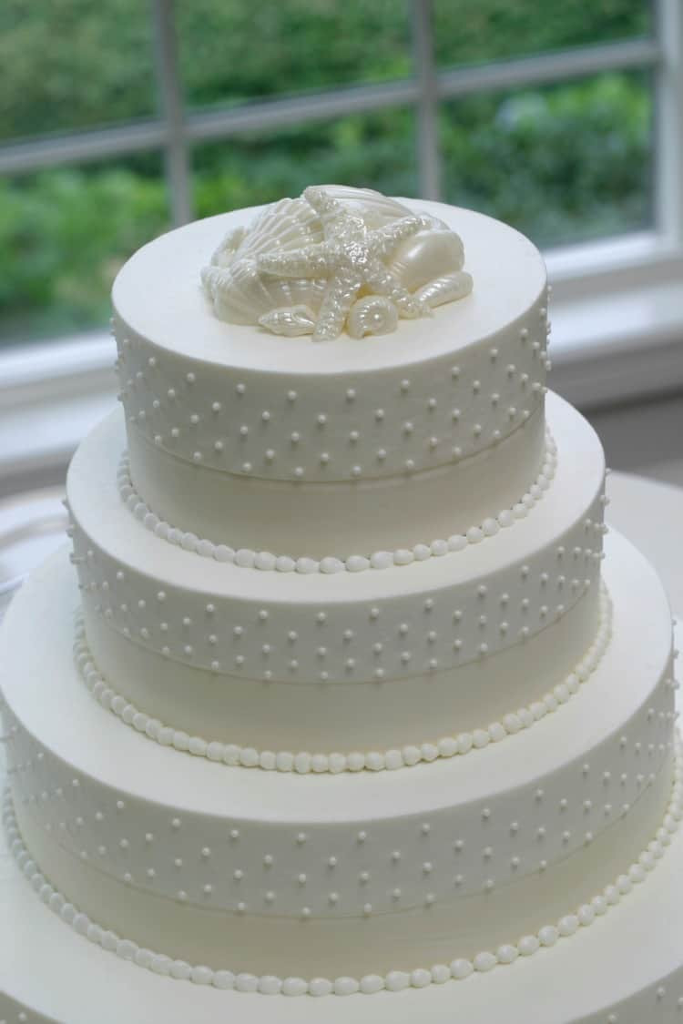Simple Beach Wedding Cakes  Beach Wedding Cake Ideas Destination Wedding Details