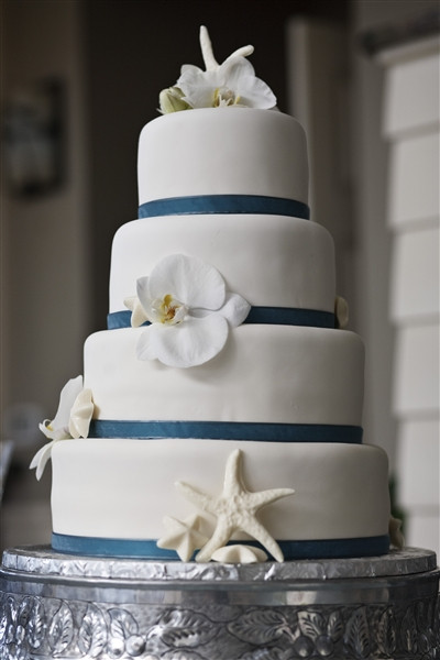 Simple Beach Wedding Cakes  Simple Beach Wedding Cakes Wedding and Bridal Inspiration
