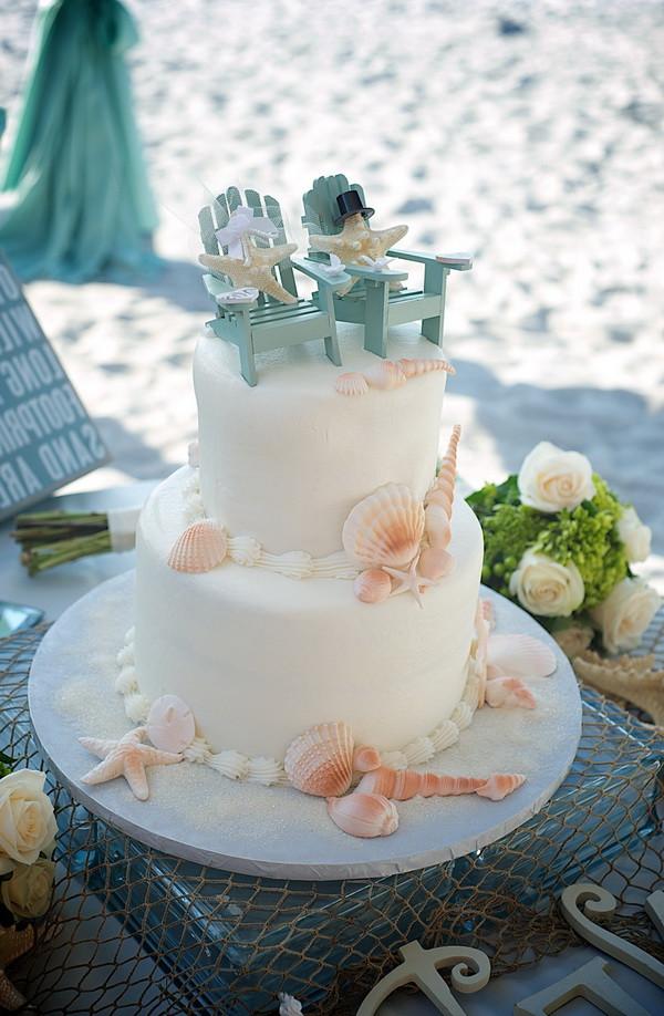 Simple Beach Wedding Cakes  Beach Wedding Cakes 15 Incredibly Fun and Vibrant Ideas
