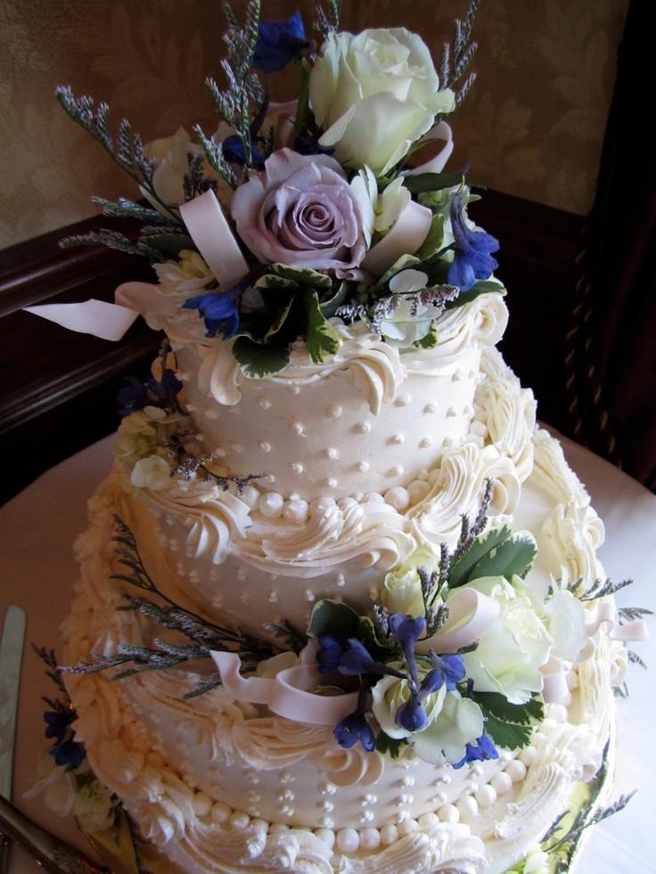 Simple Buttercream Wedding Cakes  Simple buttercream wedding cake