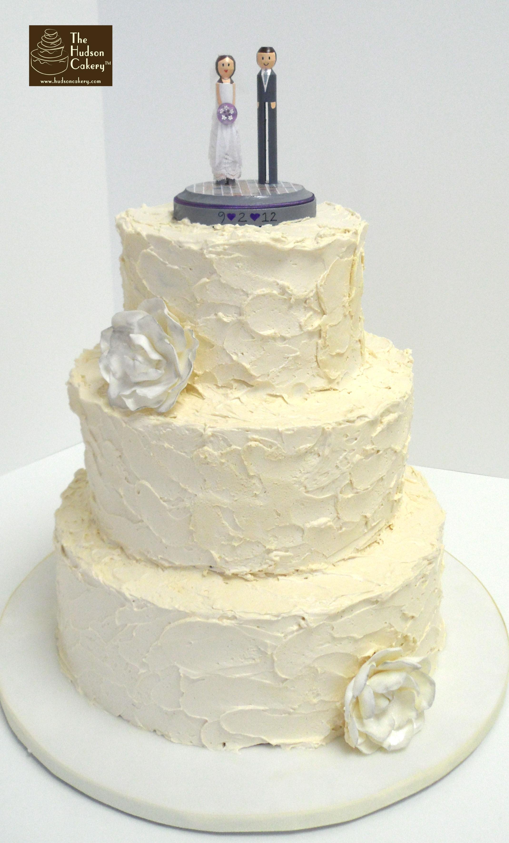 Simple Buttercream Wedding Cakes  Mod Buttercream Wedding Cake Weddings