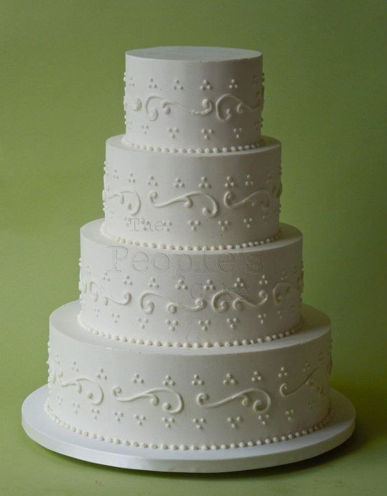 Simple Buttercream Wedding Cakes  Beautiful simple buttercream cake by The People s Cake
