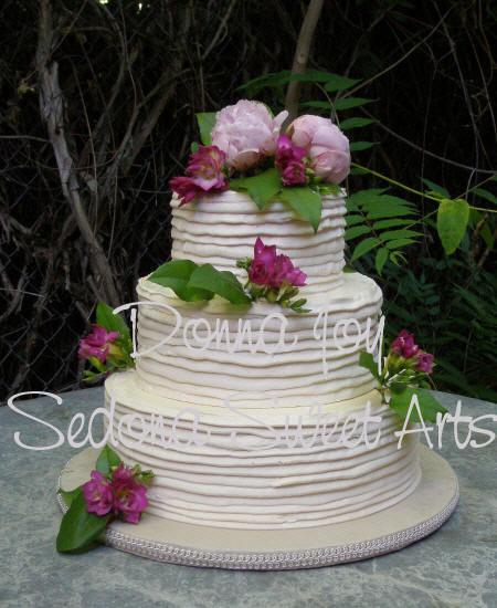 Simple Buttercream Wedding Cakes  Buttercream Wedding Cakes cake Sedona Sweet Arts