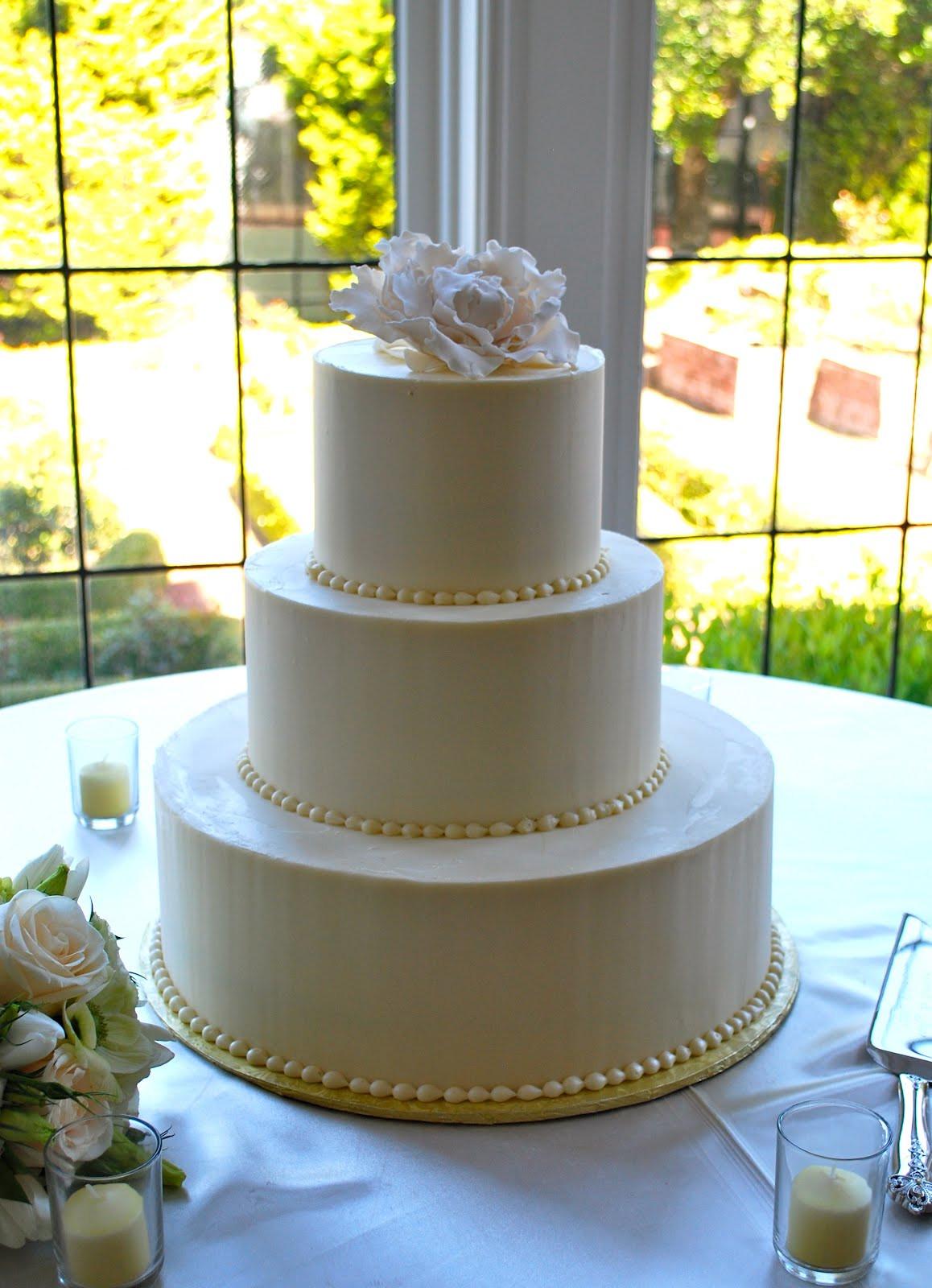 Simple Buttercream Wedding Cakes  The Beehive Peony Wedding Cake