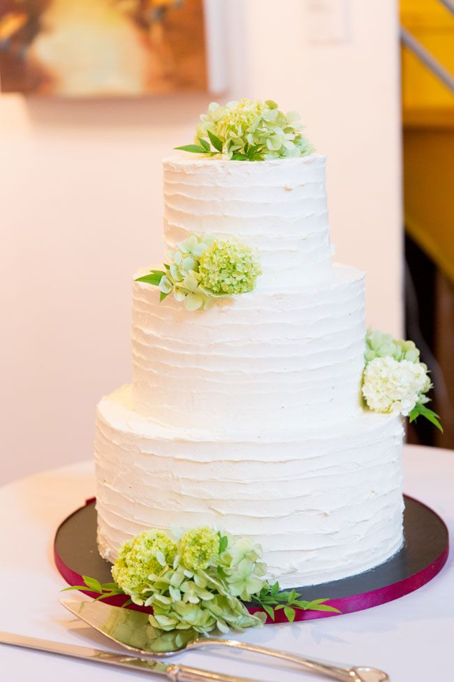 Simple Buttercream Wedding Cakes  Simple white buttercream wedding cake with textured
