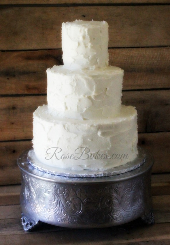 Simple Country Wedding Cakes  Simple Rustic Buttercream Wedding Cake Rose Bakes