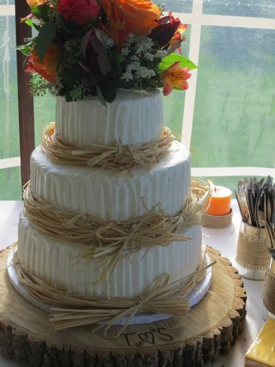 Simple Country Wedding Cakes  Simple country wedding cake Country brides