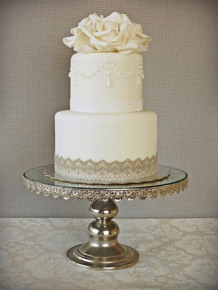 Simple Elegance Wedding Cakes  17 Best images about Green & Navy Modern vintage wedding