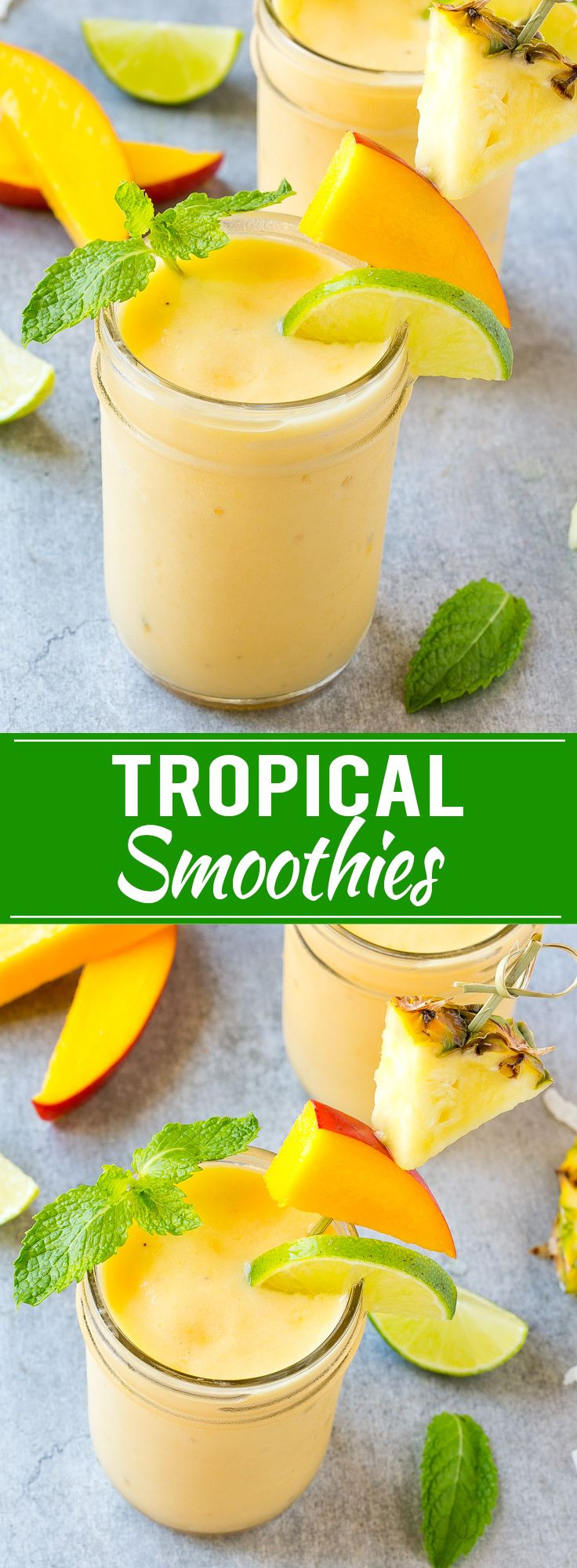 Simple Healthy Smoothie Recipes  Best 25 Tropical smoothie recipes ideas on Pinterest