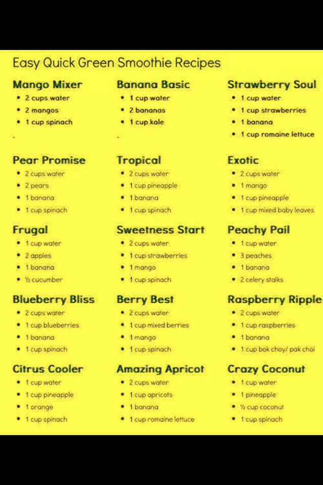 Simple Healthy Smoothie Recipes  easy smoothie recipes