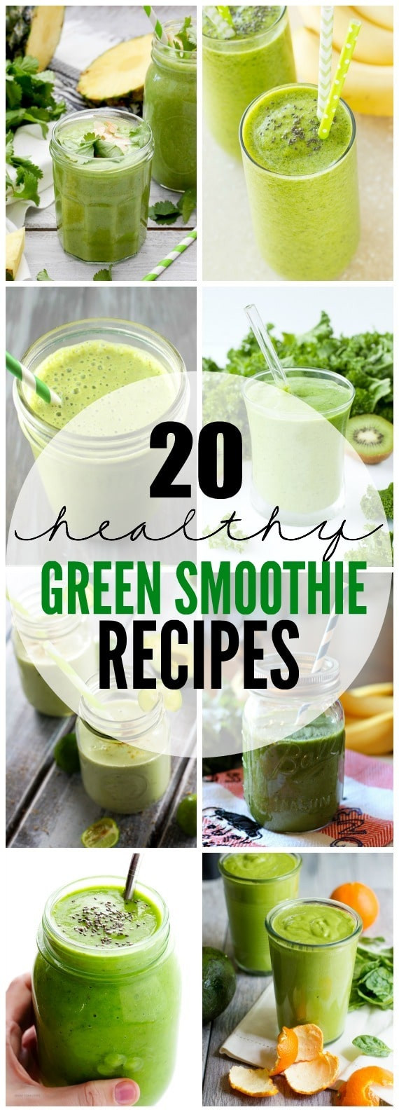 Simple Healthy Smoothie Recipes  20 Healthy Green Smoothie Recipes Yummy Healthy Easy