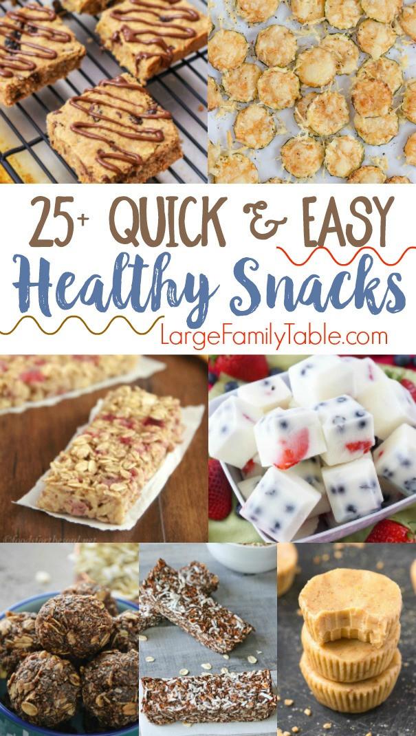 Simple Healthy Snacks  25 Quick & Easy Healthy Snack Recipes Jamerrill Stewart
