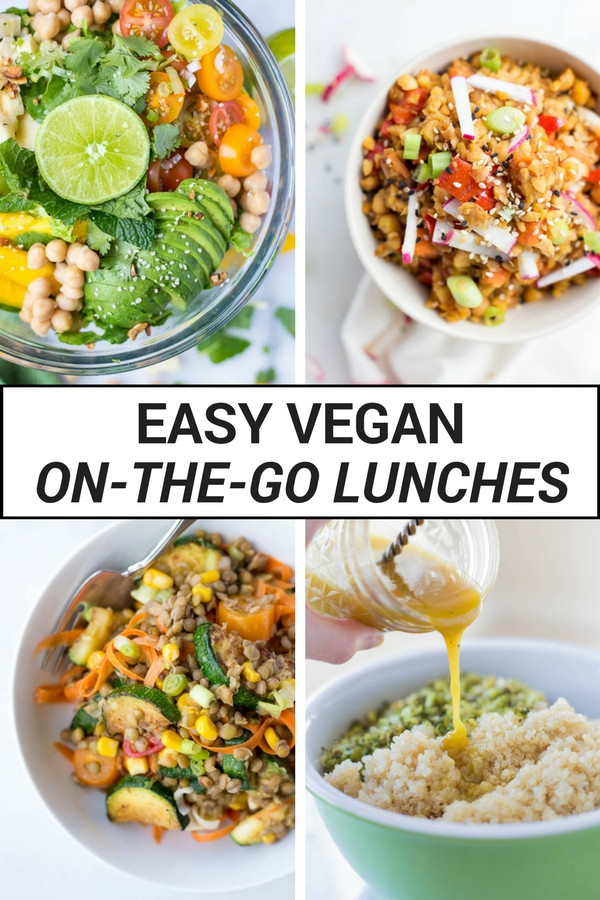 Simple Healthy Vegetarian Recipes  Easy Vegan the Go Lunches Fooduzzi