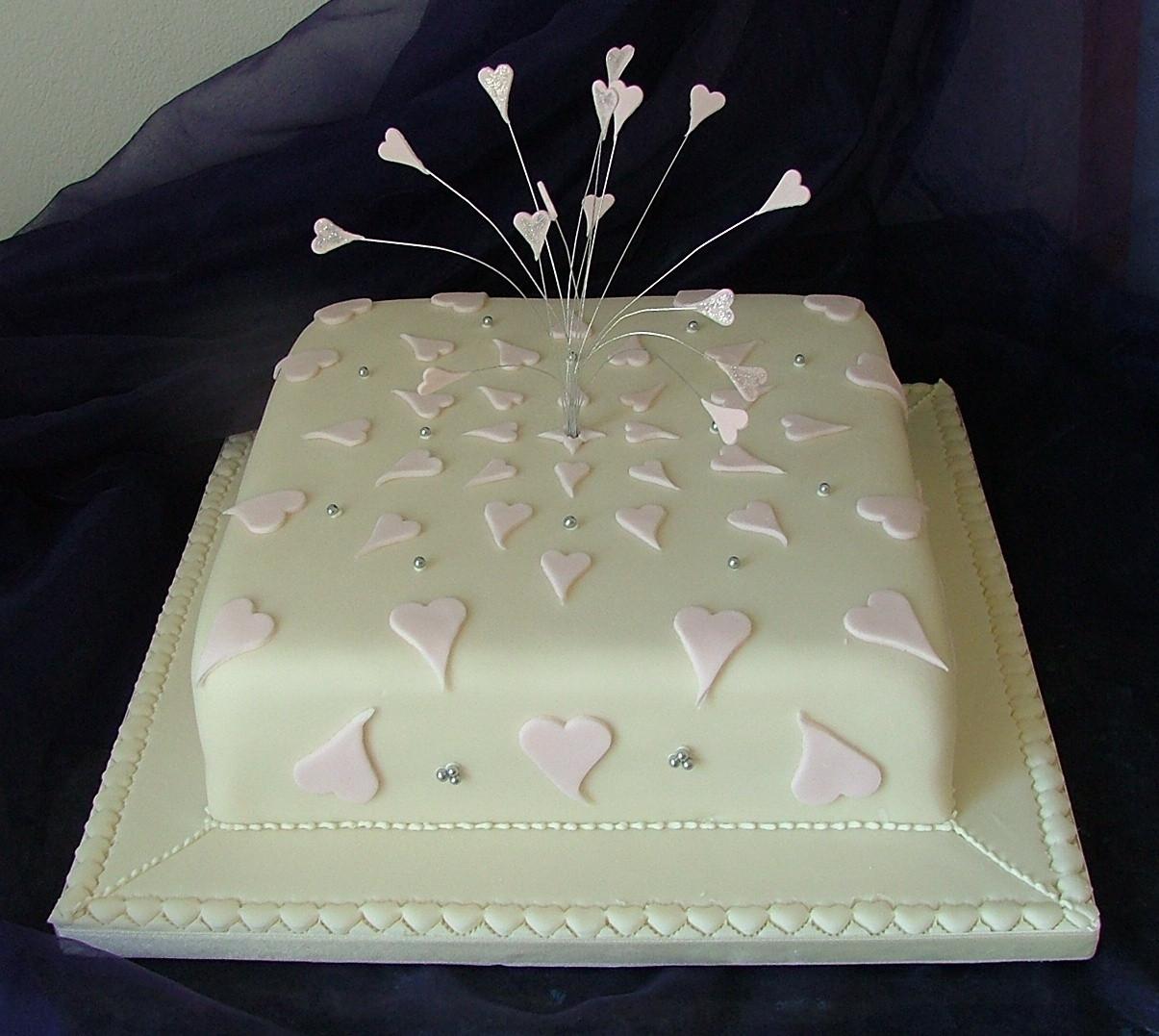 Simple One Tier Wedding Cakes  Simple one tier wedding cakes idea in 2017
