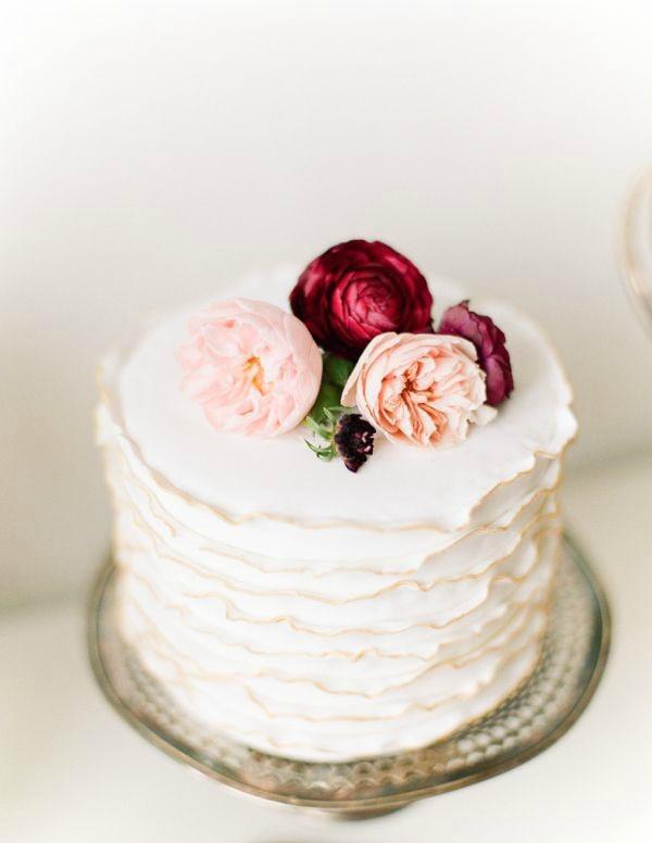 Simple One Tier Wedding Cakes  Wedding Trend Single Tier Cakes Bajan Wed Bajan Wed