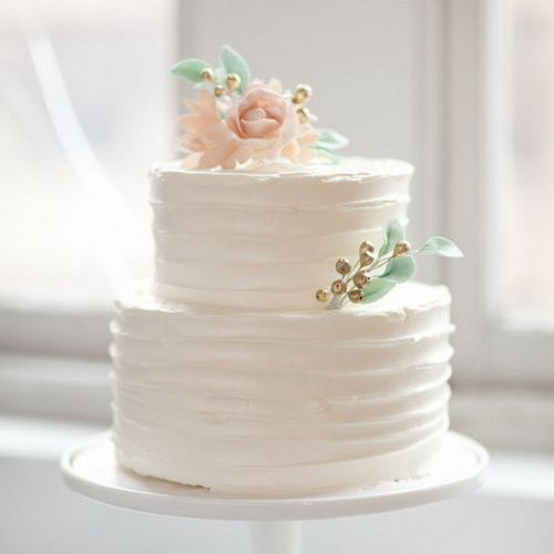 Simple Small Wedding Cakes  Small simple wedding cake to go along with the froyo