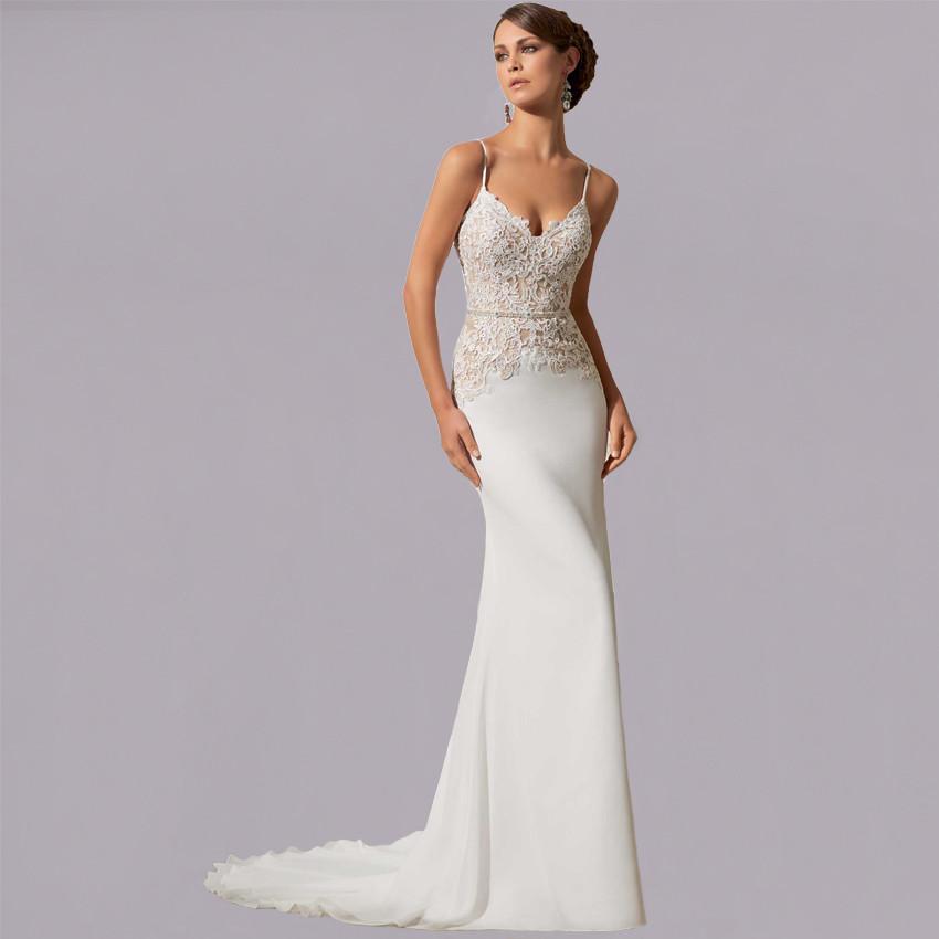 Simple Spaghetti Strap Wedding Dress  Simple Summer Spaghetti Strap Wedding Dress Promotion Shop