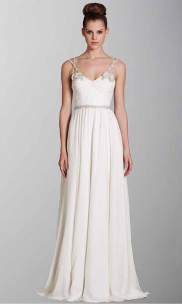 Simple Spaghetti Strap Wedding Dress  Dress ivory dress wedding dress long prom dress long