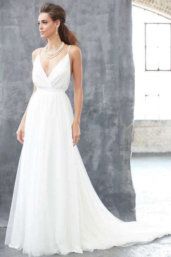 Simple Spaghetti Strap Wedding Dress  25 best ideas about Spaghetti strap wedding dress on