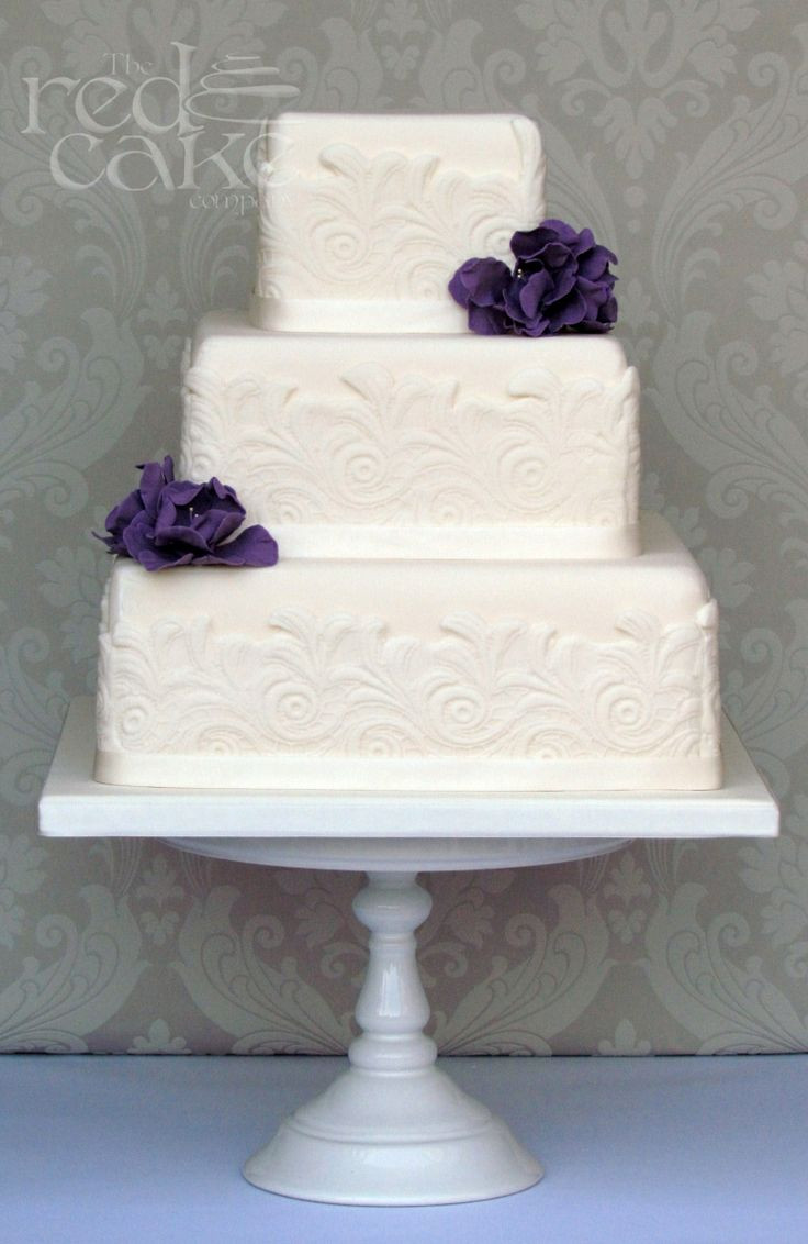 Simple Square Wedding Cakes  25 Best Ideas about Ivory Square Wedding Cakes on