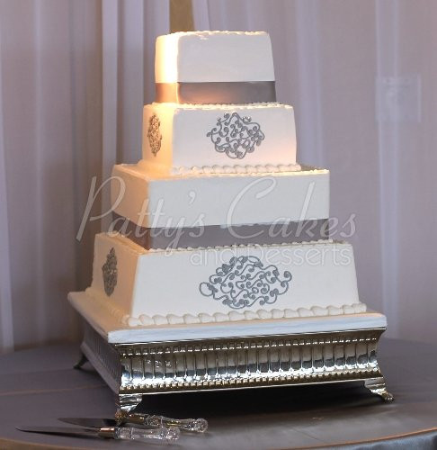 Simple Square Wedding Cakes  Bling wedding cakes Archives Patty s Cakes and Desserts