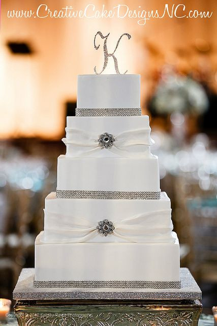 Simple Square Wedding Cakes  Pin by Perfect Wedding Guide Triad Triangle on Wedding