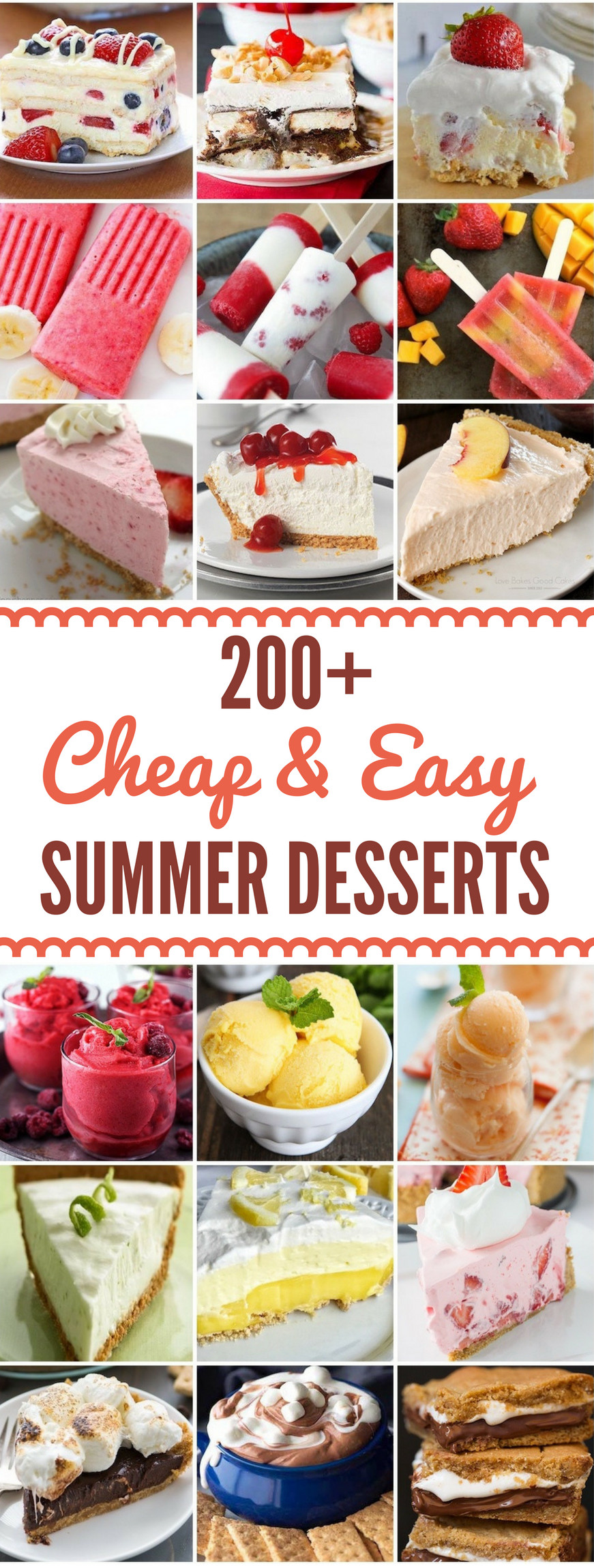 Simple Summer Desserts  200 Cheap and Easy Summer Desserts Prudent Penny Pincher