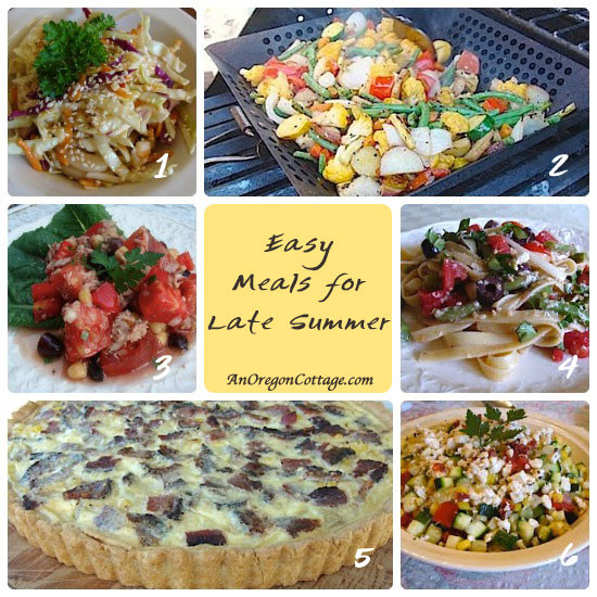 Simple Summer Dinners  6 Easy Late Summer Meals An Oregon Cottage