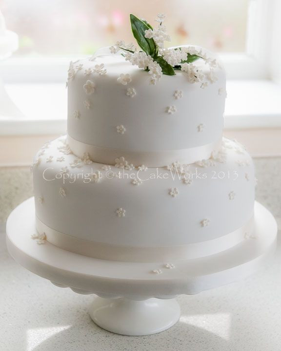 Simple Two Tier Wedding Cakes  44 best spring cakes images on Pinterest